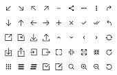 arrows and signs web icons