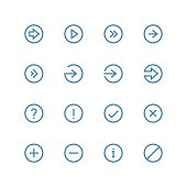 Arrows and symbols icon set