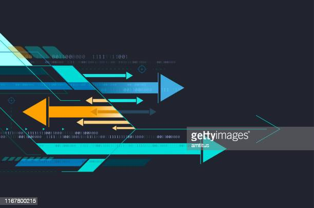 arrows background - finance and economy stock illustrations