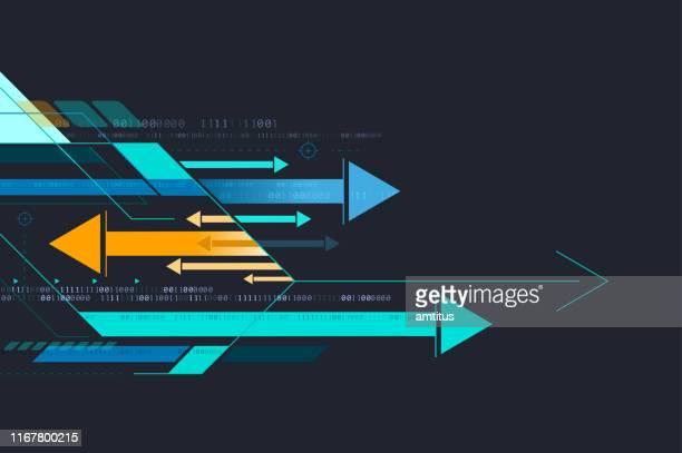 pfeile hintergrund - fortschritt stock-grafiken, -clipart, -cartoons und -symbole