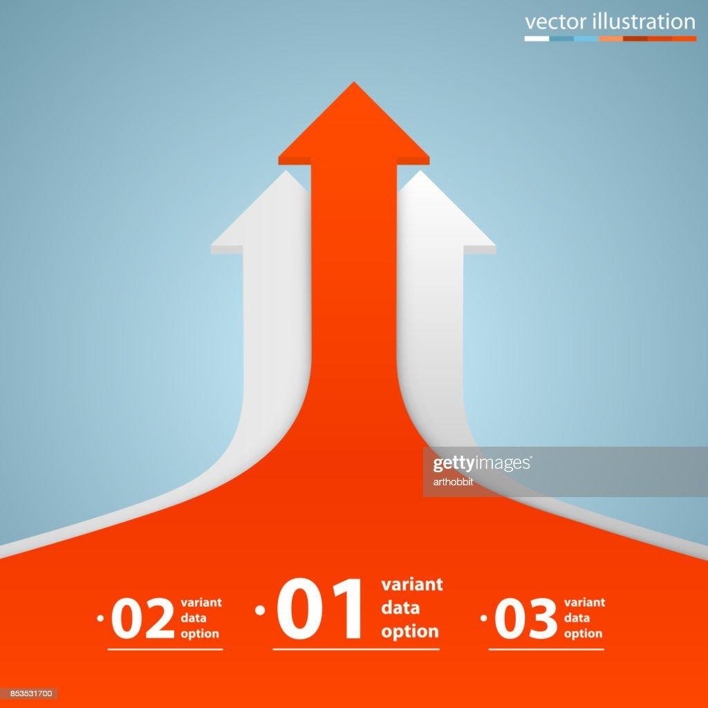 Arrows business growth. Vector