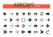 Arrows collection - set of navigational web elements