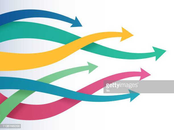 arrows direction pointing choice - flowing stock illustrations