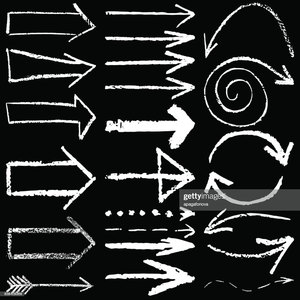 arrows  drawn in chalk