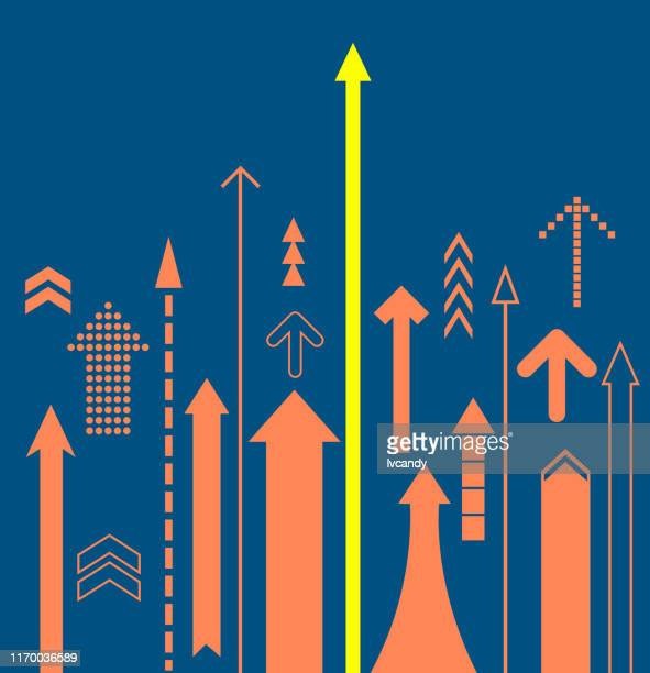 arrows group - variation stock illustrations