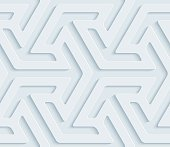Arrows isometric 3D Seamless Wallpaper Pattern.