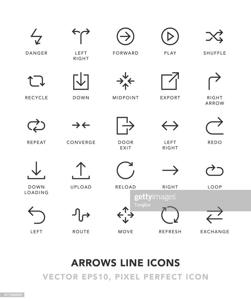 Arrows Line Icons