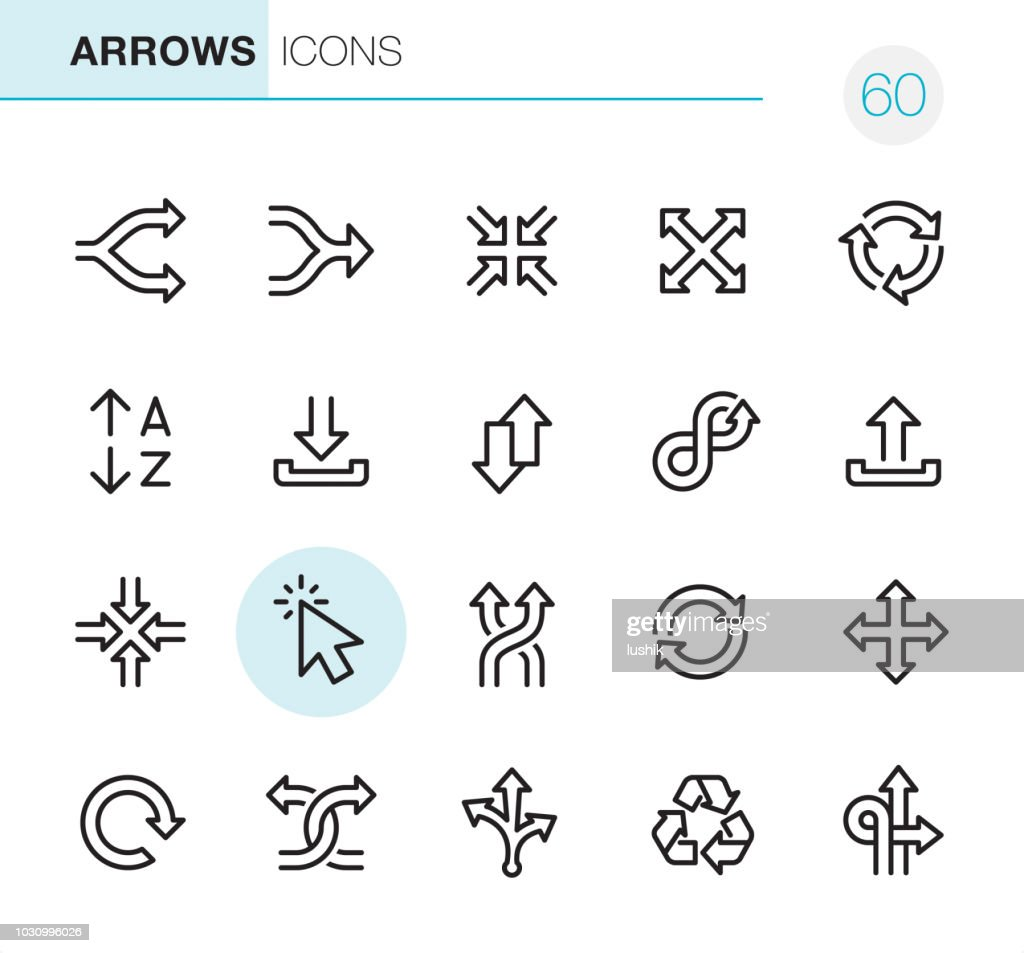 Arrows - Pixel Perfect icons : stock illustration