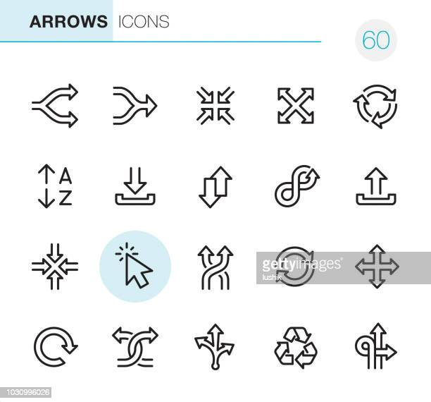 arrows - pixel perfect icons - zoom in stock illustrations