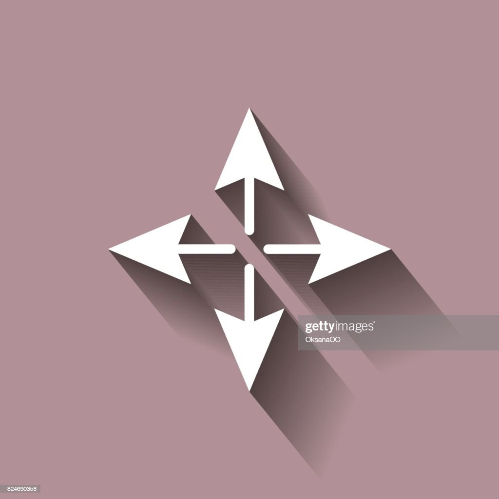 Arrows Pointing Forward Backward Right And Left Stock