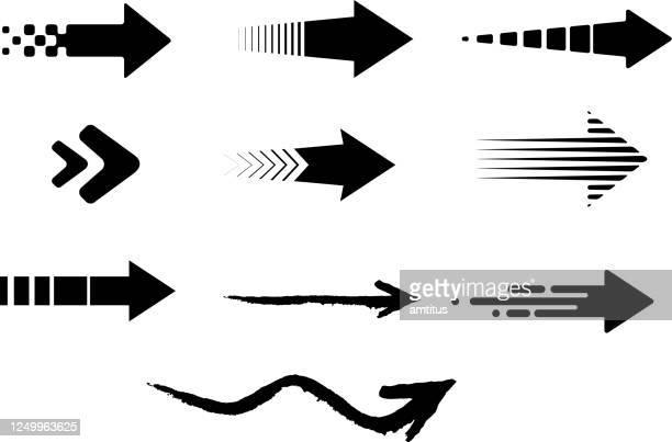 ilustrações, clipart, desenhos animados e ícones de setas definidas - sinal de seta