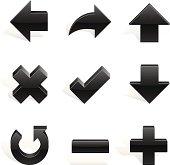 Arrows Shapes Black in 3d