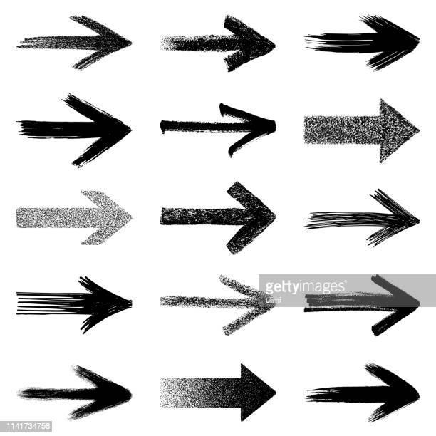 pfeile, vektorgestaltungselemente - pfeilspitze stock-grafiken, -clipart, -cartoons und -symbole