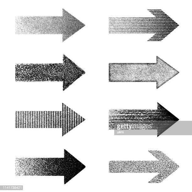 arrows, vector design elements - grainy stock illustrations, clip art, cartoons, & icons