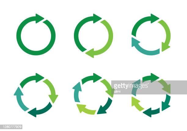 arrows - circle stock illustrations
