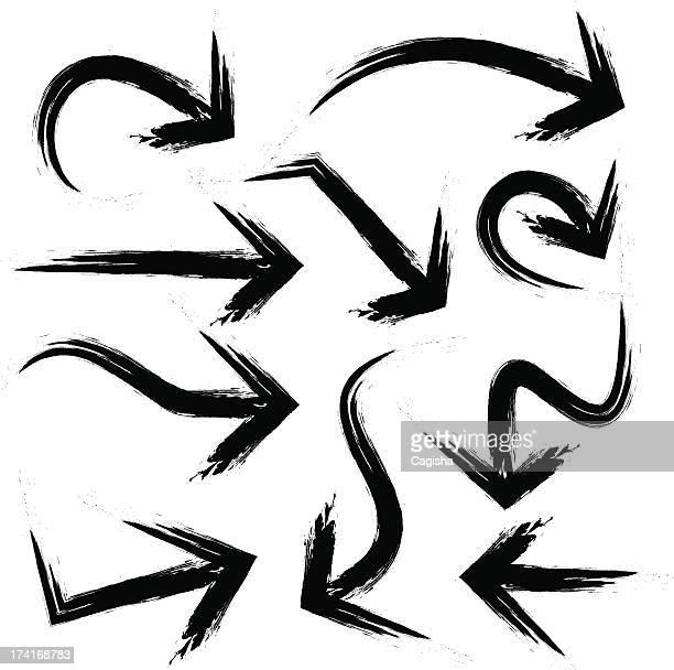 arrows - modern rock stock illustrations
