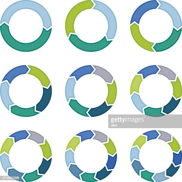 arrows - circle stock illustrations