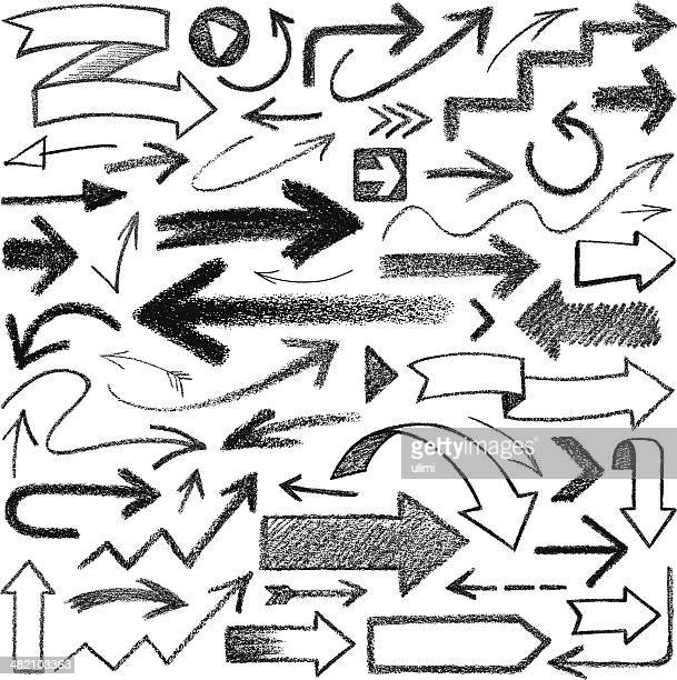 arrows - pencil stock illustrations, clip art, cartoons, & icons