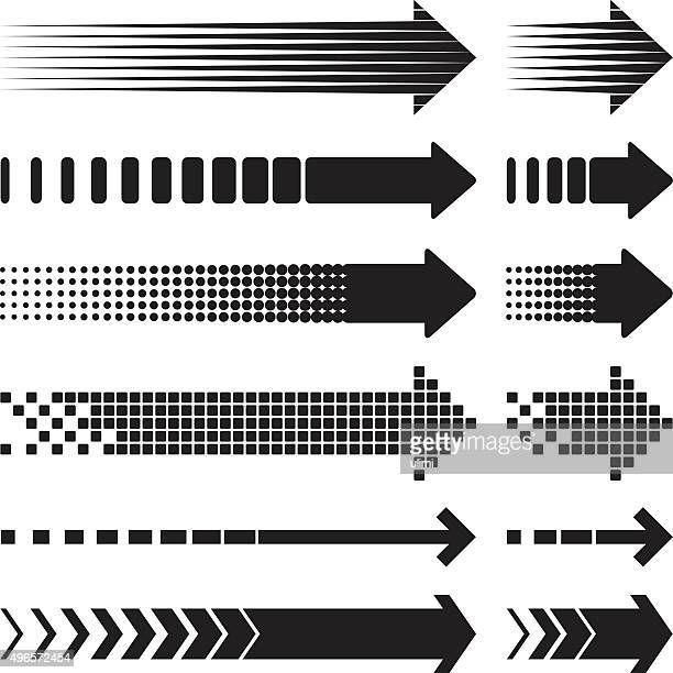 arrows - dotted line stock illustrations