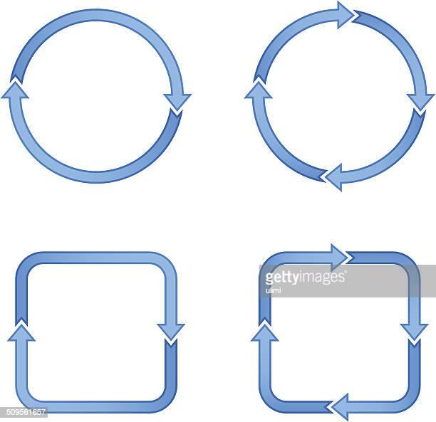 矢印 - 四つ点のイラスト素材/クリップアート素材/マンガ素材/アイコン素材