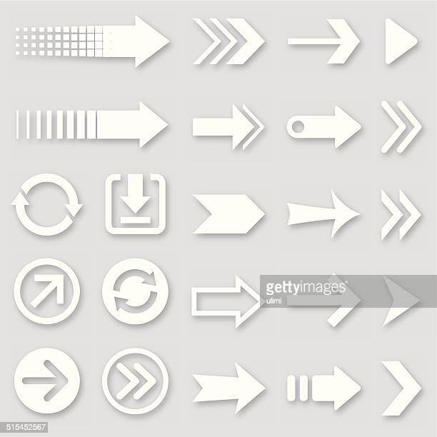 arrows - white stock illustrations