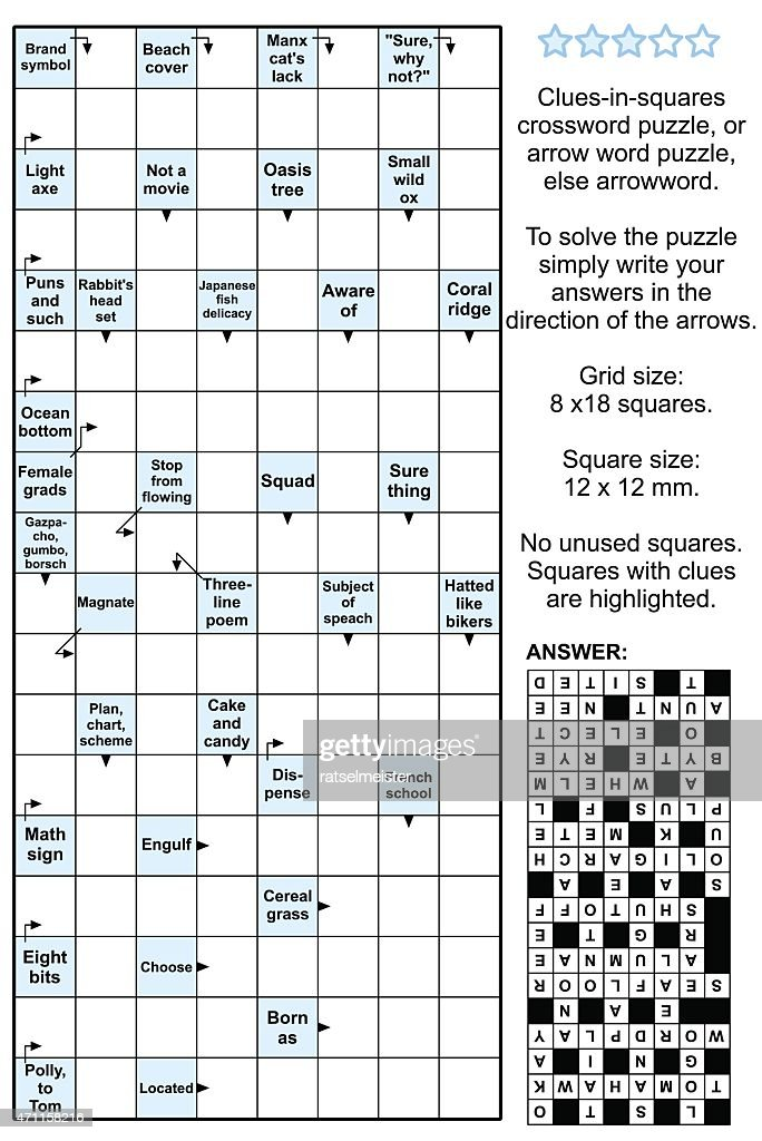 Arrowword (clues-in-squares) crossword puzzle