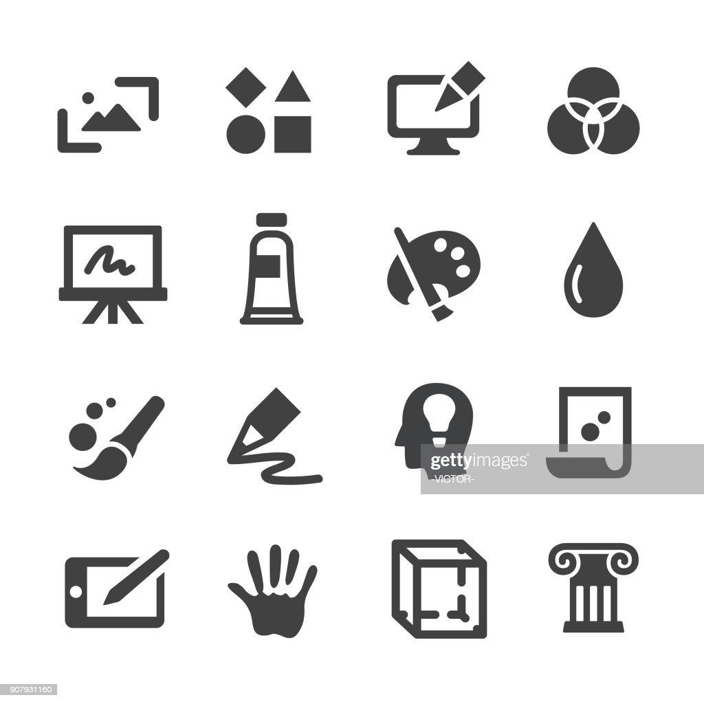 Icone dell'arte e dell'educazione - Serie Acme : Illustrazione stock