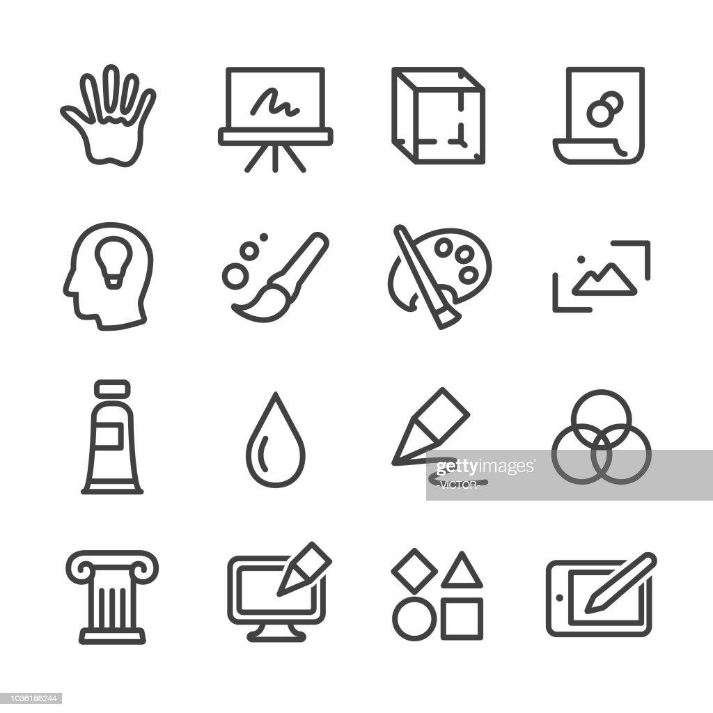 Kunst und Bildung Ikonen - Line Serie : Stock-Illustration