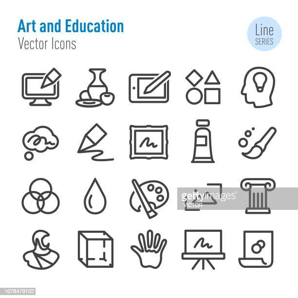 Art and Education Icons - Vector Line Series