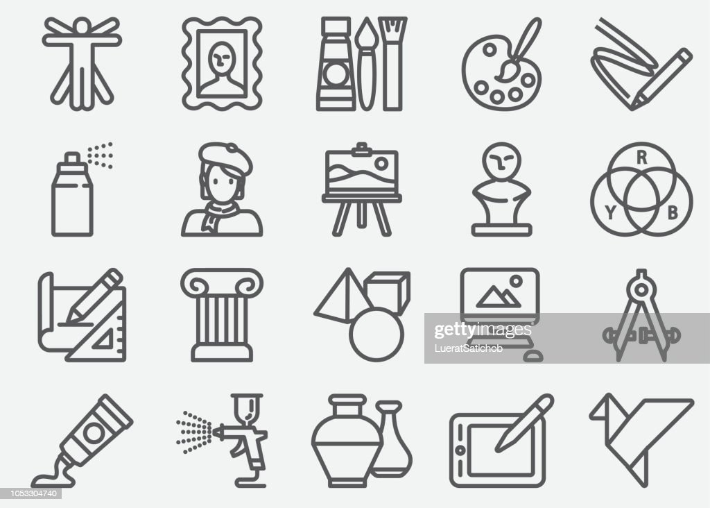 Art and Education Line Icons