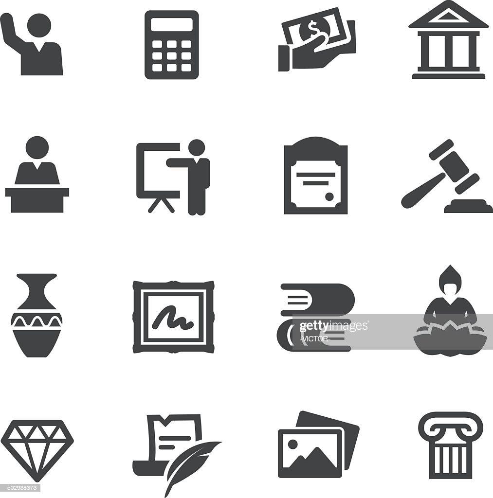 Art Auction Icons - Acme Series : stock illustration