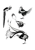 Darmowe Grafiki Wektorowe Rajski Ptak Tatuaż Vectorhqcom