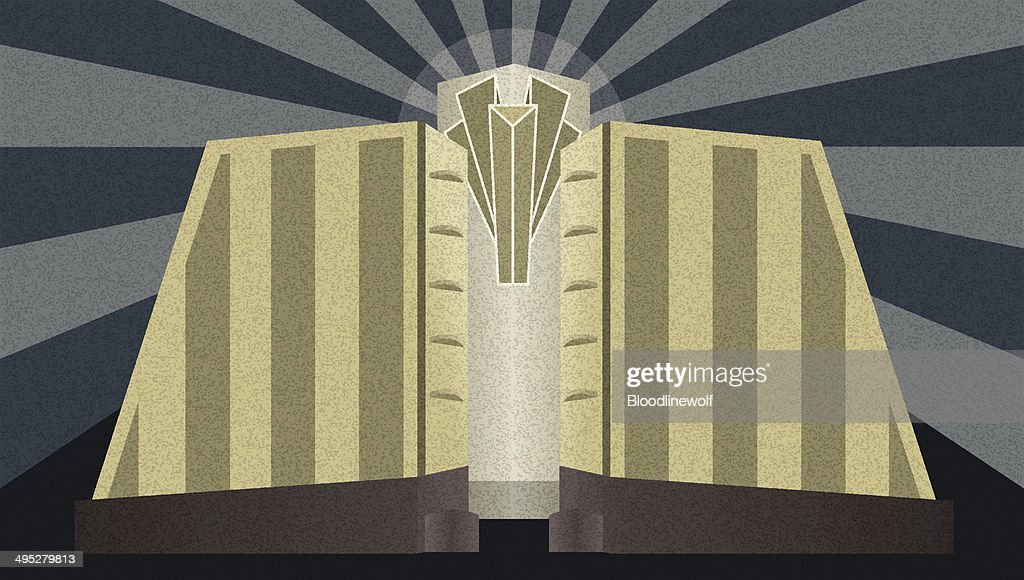 Art Deco Architectural Poster : stock illustration