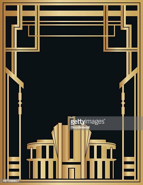 art deco background - gatsby image stock illustrations