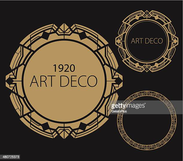 art deco border - art nouveau stock illustrations, clip art, cartoons, & icons