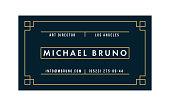 Art Deco Business Card (Live Stroke Path)