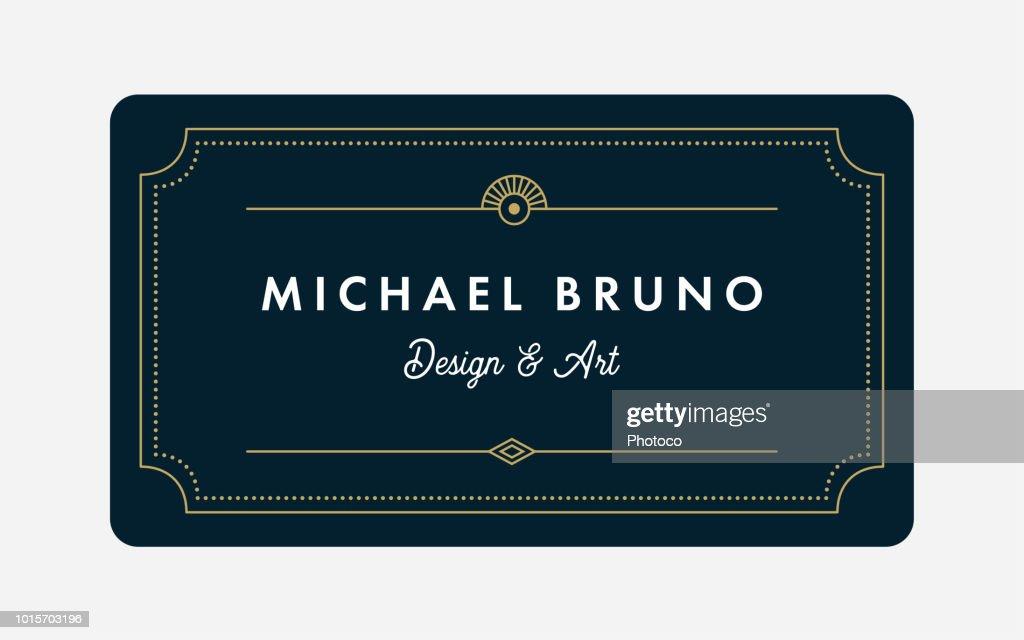 Art Deco Business & Gift Card Template