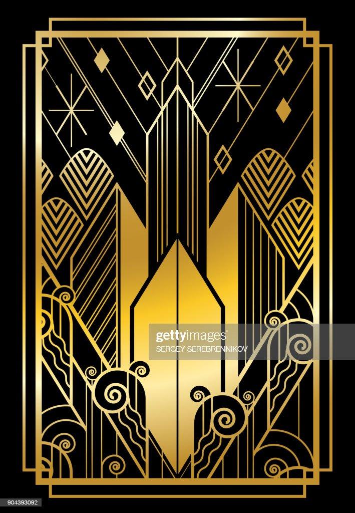 art deco city gold