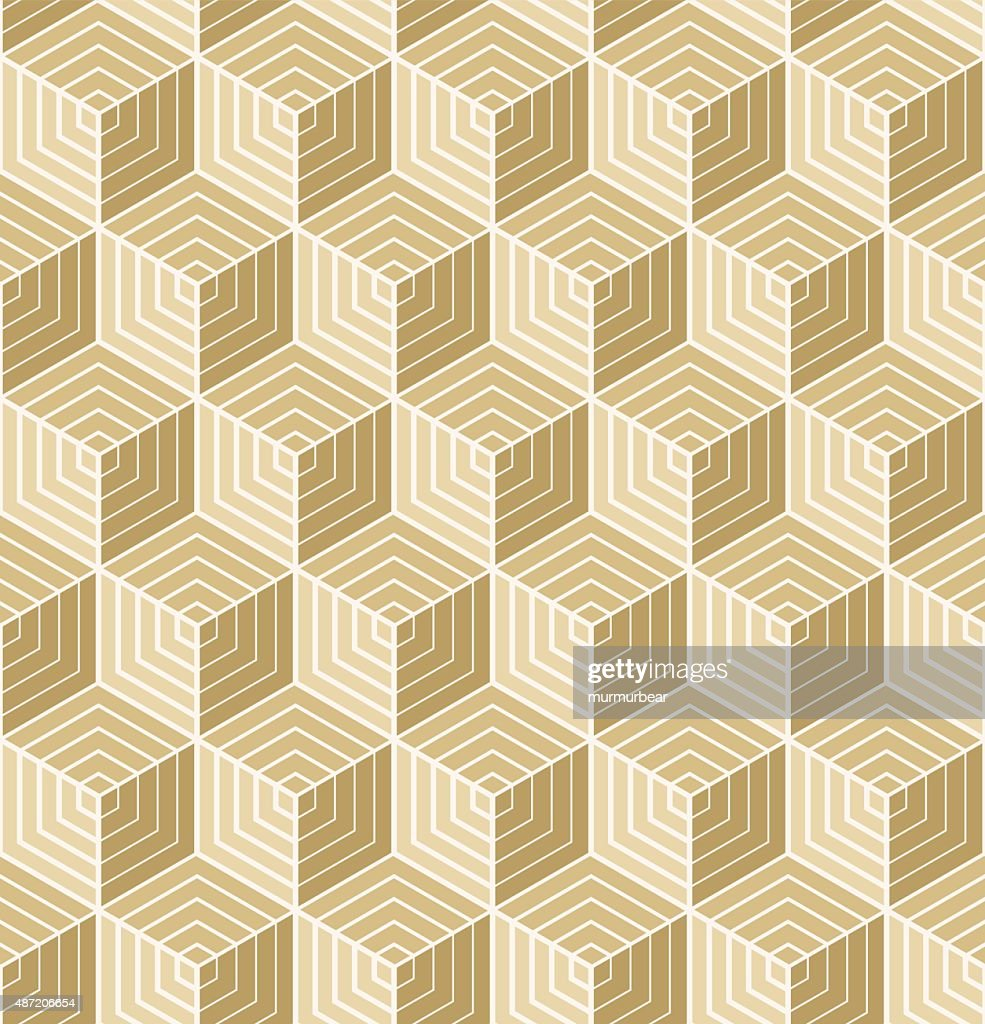 art deco cube pattern