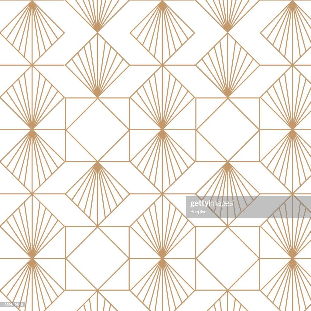 Art deco, elegant, decorative background pattern.