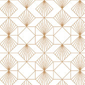 Art deco, elegant, decorative background pattern.