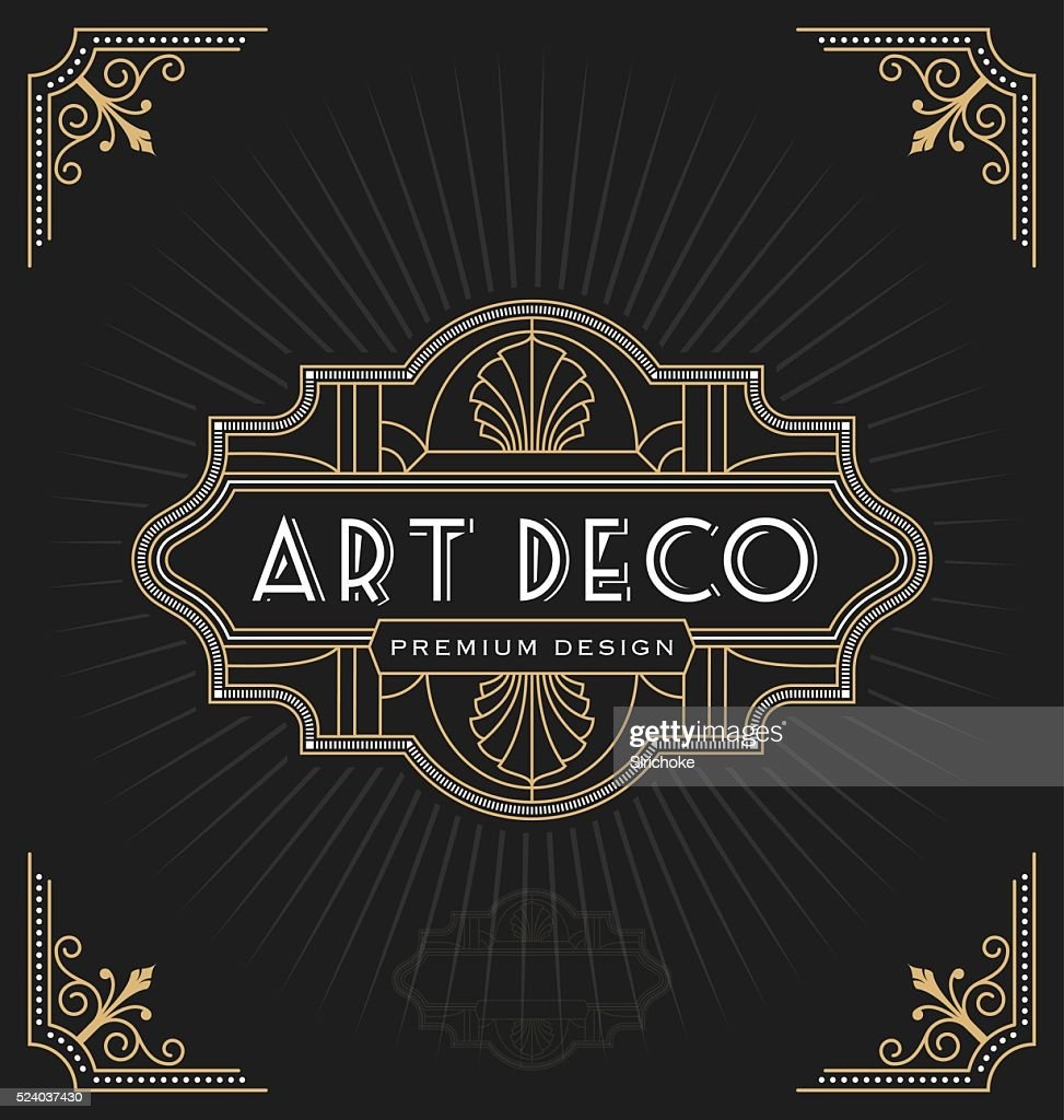 Art deco frame and label design
