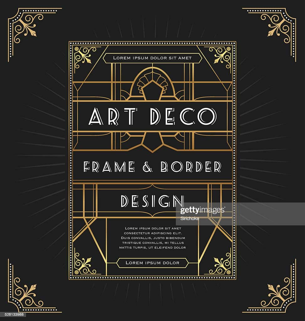 Art deco frame design for your design