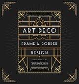 Art deco frame design for your design