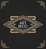Art deco frame design