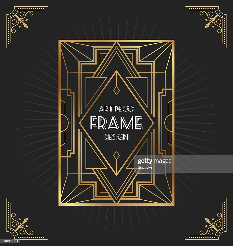 Art deco frame design