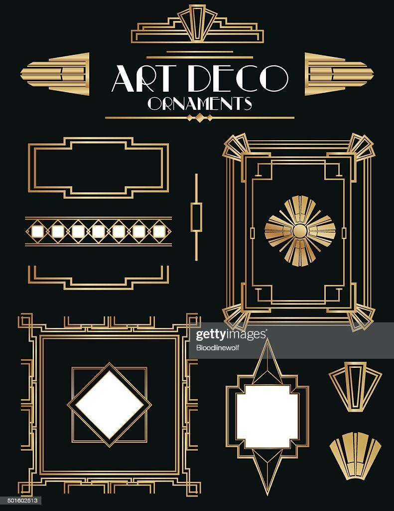 Art Deco Frames and Ornament Set