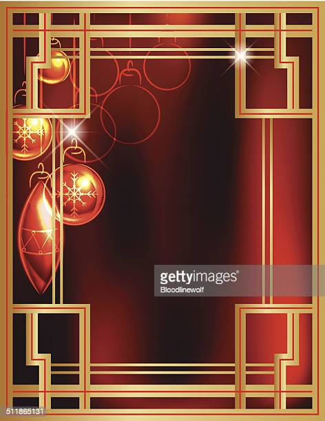 art deco frames and ornament - gatsby image stock illustrations