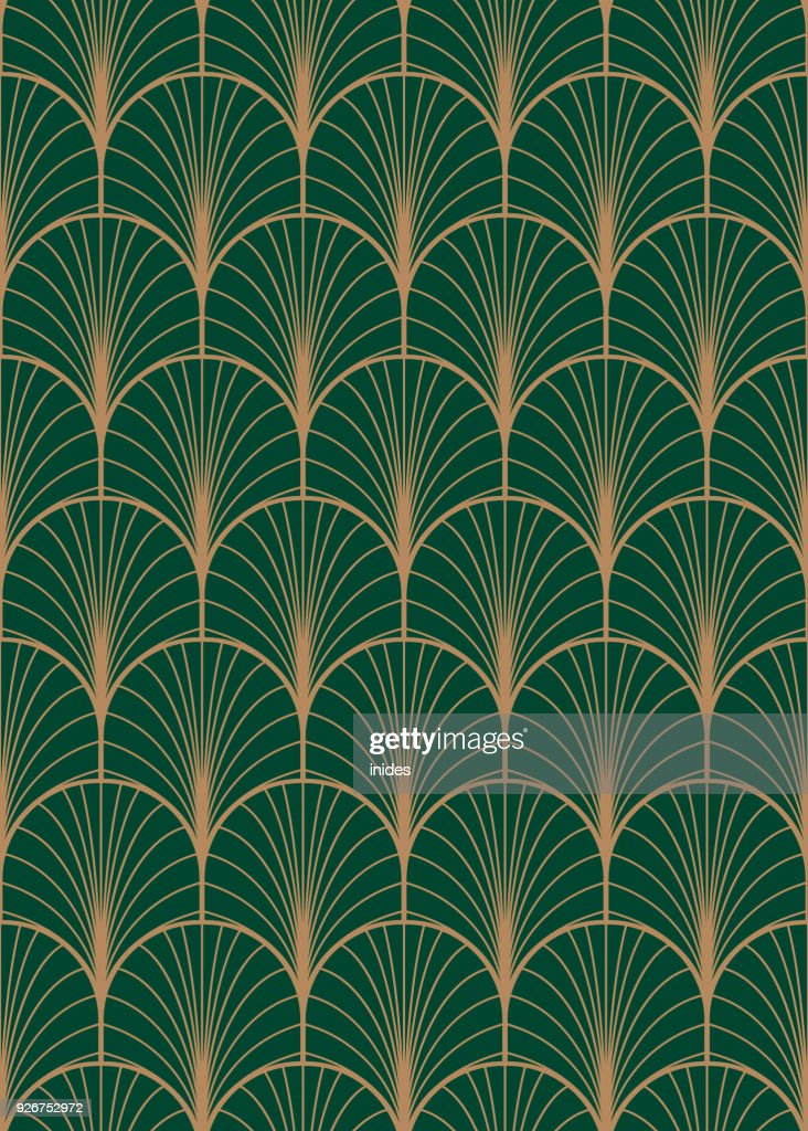 Art deco geometric seamless vector pattern.