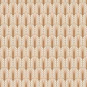 Art deco gold line geometric style pattern